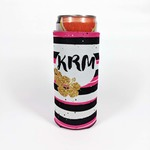 Personalized Bottle Koozie - Collapsible Custom Can Koozie for Narrow Bottles and Cans