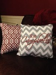 Personalized Minky Decorative Pillow Cover 26 inch Square- Throw Pillow with Zipper Closure
