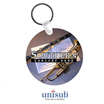 Personalized Photo Circle Key Chain - 2.5 inch Double Sided Plastic