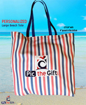"Personalized Beach Bag Tote - X-Large 23"" x 24"" Canvas Tote"