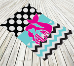 "Double-Sided Personalized Beach Towel - 30"" x 60"" Custom Beach Towel"