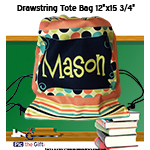 Custom Drawstring Back Sack - 12 x 15.75