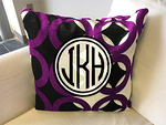 Personalized Minky Decorative Pillow Cover 24 inch Square- Throw Pillow with Zipper Closure