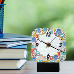 "Custom Mini Desk Clock - 4"" x 4"""