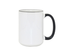 Custom Mug - 15oz Coffee Mug with Black Rim/Handle