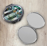 Personalized Compact Mirror - Oval Makeup Mirror