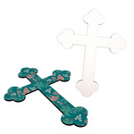 Personalized Cross Plaque - Hardboard Cross with Acrylic Holder