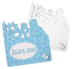 It's a Boy Hardboard Plaque - Personalized Baby Announcement