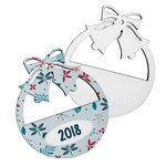 Holiday Bells Custom Ornament - Single Side Hardboard Holiday Ornament