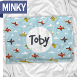 "Personalized Minky Pillow Case - 20.5"" x 30"" Soft Plush Double-Sided Pillowcase"