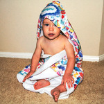 "Personalized Hooded Baby Towel - 30"" x 30"" Hooded Towel for Kids"