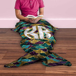 "Personalized Mermaid Blanket for Adults - 80"" Long"