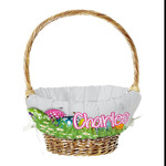 "Personalized Easter Basket Liner - 15"" Wide Personalized Easter Basket Cover"